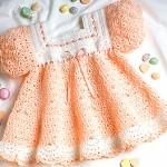 Crochet a Banana Split Baby Dress Crochet Pattern ePattern