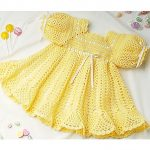 Crochet a Banana Split Baby Dress Crochet Pattern ePattern