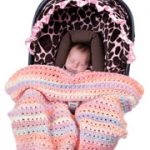Knit and Crochet Car Seat Blankets for Baby