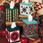 Traditional Elegance Tissue Box Cover Plastic Canvas Pattern ePattern