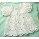 Crochet a White Dress for Baby