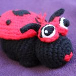 Crochet a Ladybug, Snake and Butterfly Pillow Toy