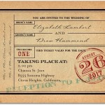 Vintage Wedding Invitations Ticket to Bliss