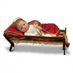 Baby Jesus Doll with Manger and Musical Pillow for Christmas