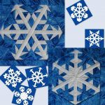 Snowflake quilt pattern inspired by the movie Frozen