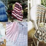 Free crochet ripple and chevron afghan patterns
