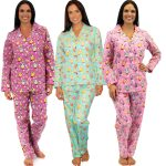 Women's Lightweight Owls Flannel Pajamas