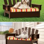 New for Pets Wooden Adirondack Pet Chair