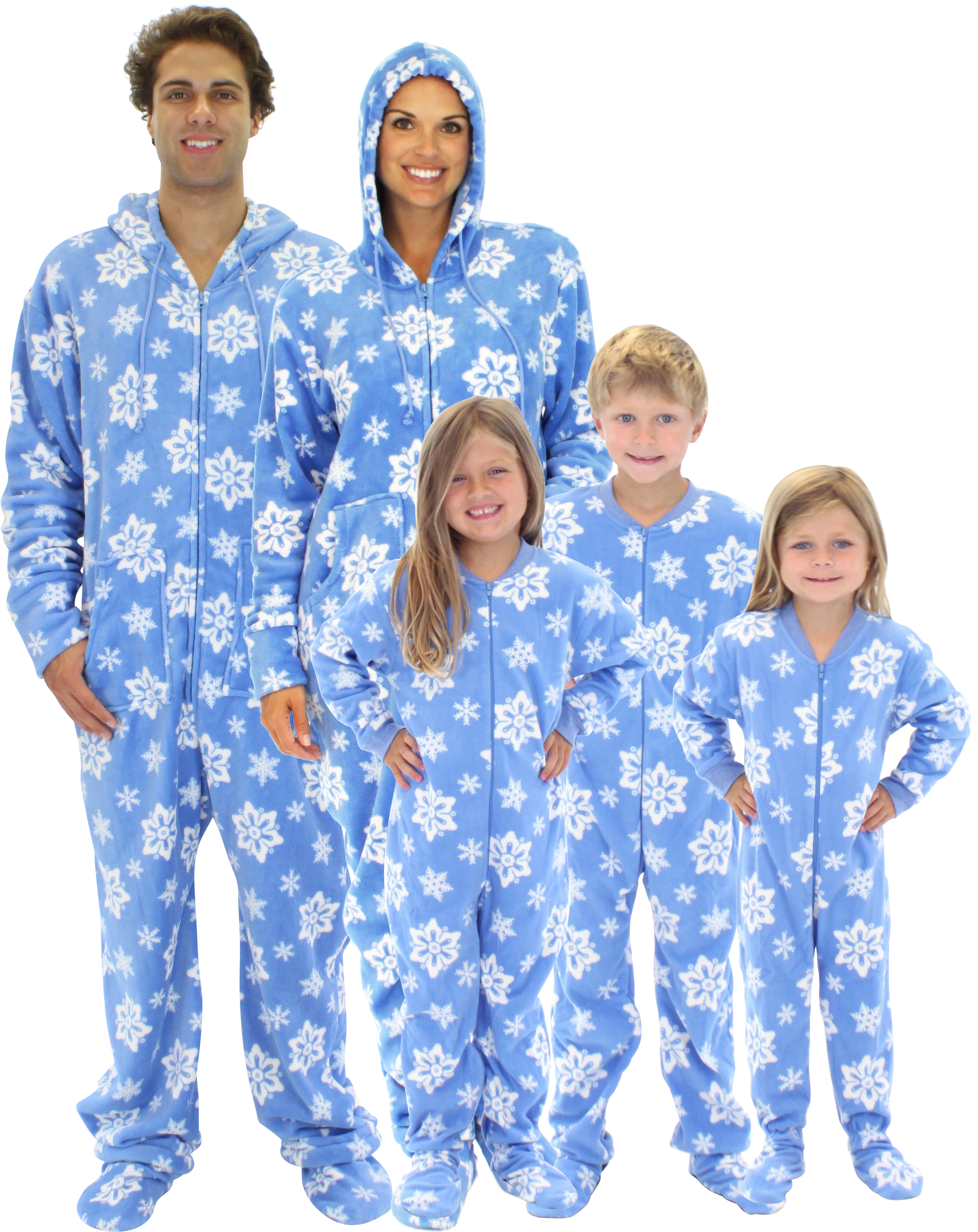 The blanket sleeper or footie pajama (also known by many other synonyms and trade names) is a type of especially warm sleeping garment worn primarily during the winter in the United States and Canada.
