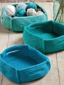Knitting Pattern for Baskets