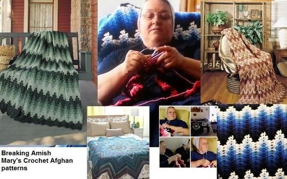Marys Crochet Afghan Patterns Breaking Amish Bookdrawer