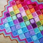 Free Crochet Pattern Happy Colorful Join As You Go Blanket Pattern