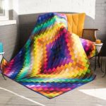 New Gradations Trip Around the World Pixels Quilt Pattern
