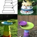 Easy to Make Terra Cotta pot Bird Bath