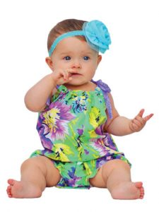 Sewing pattern baby romper