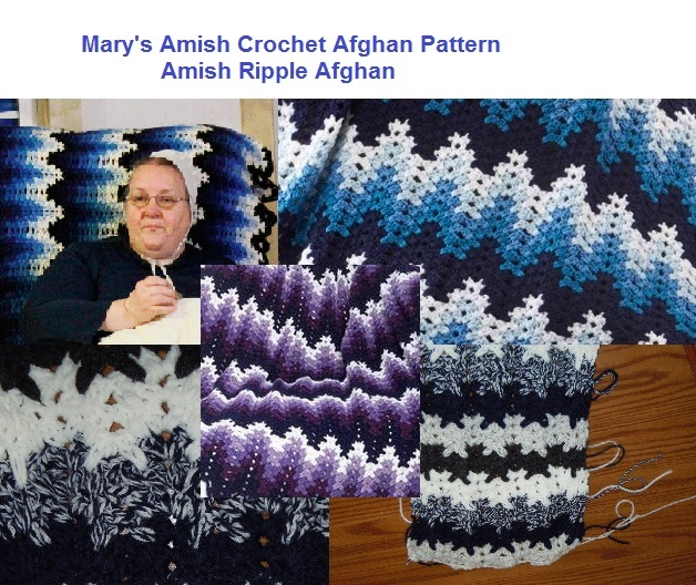 Breaking Amish Marys Crochet Afghan Pattern Ripple