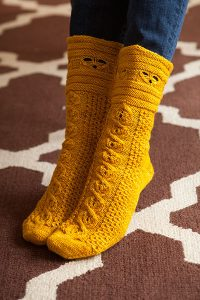 Busy Bee Knitting Socks Pattern