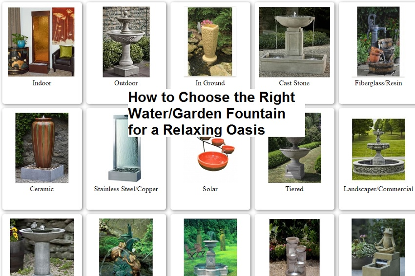 How to Choose the Right Water or Garden Fountain for Indoors and Out