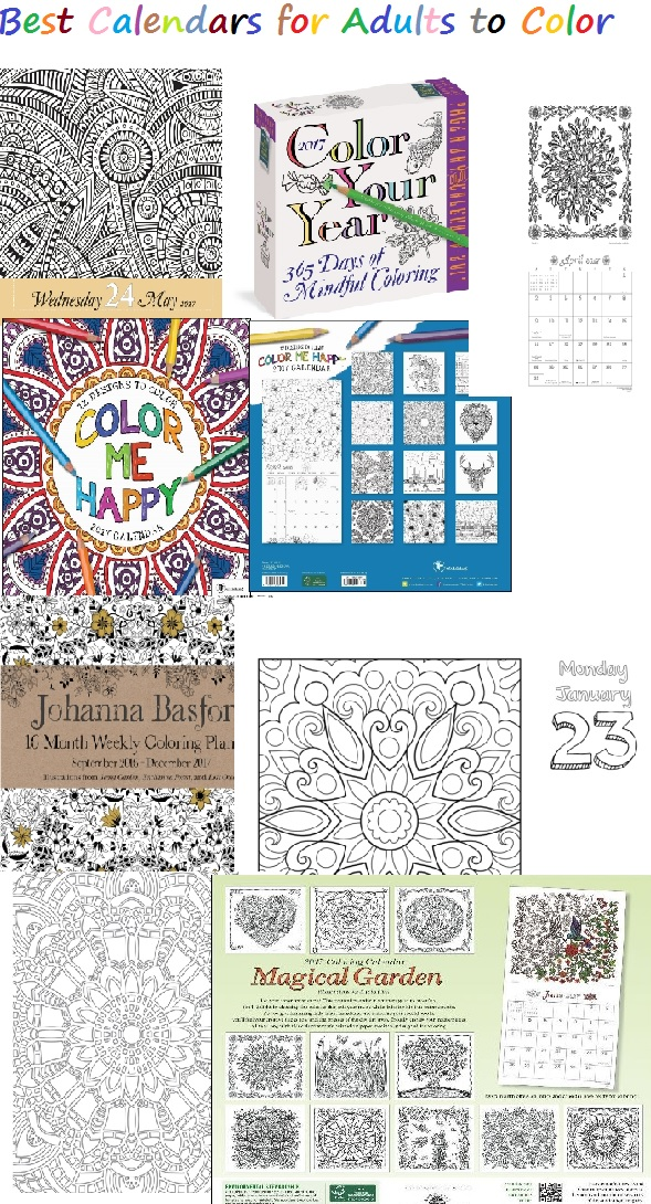 Best calendars for adults who color