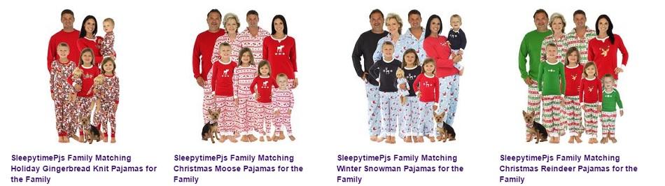 Matching Christmas Pajamas for the Family