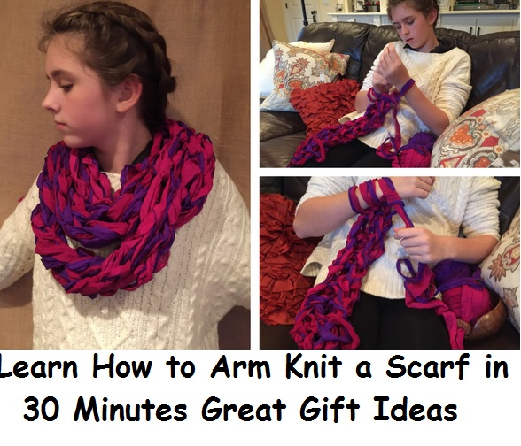 Learn How to Arm Knit a Scarf