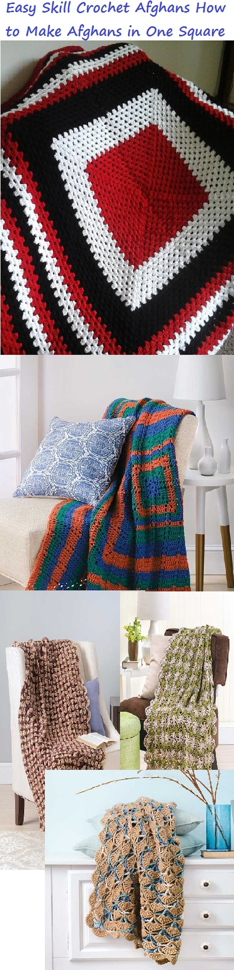 Easy to Crochet One Square Afghan Patterns Granny Squares