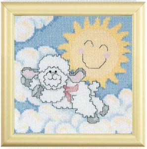Cross Stitch Lamb Pattern for Baby