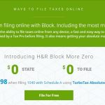 Download H&R Block Tax Software for this years Taxes and File for Free