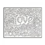 All You Need is Love DIY Coloring Wall Plaque