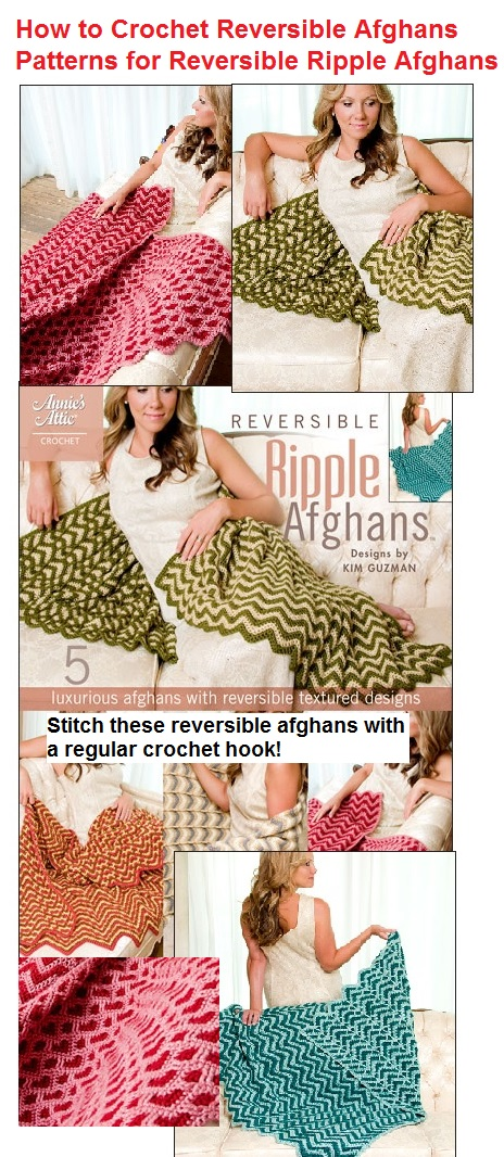 How to Crochet Reversible Ripple Afghans Patterns