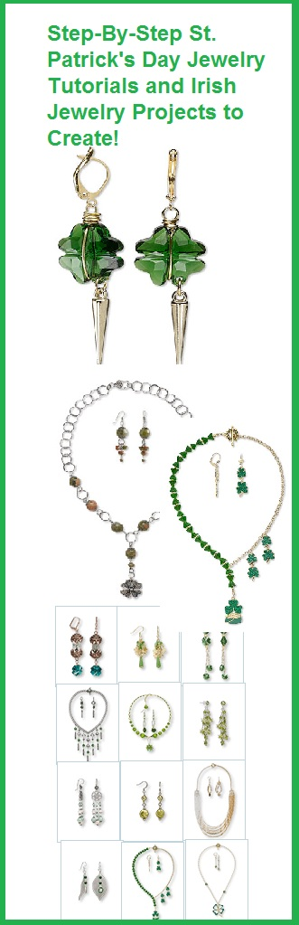 Free and Easy tutorials on making Shamrock St. Patrick's Day jewelry