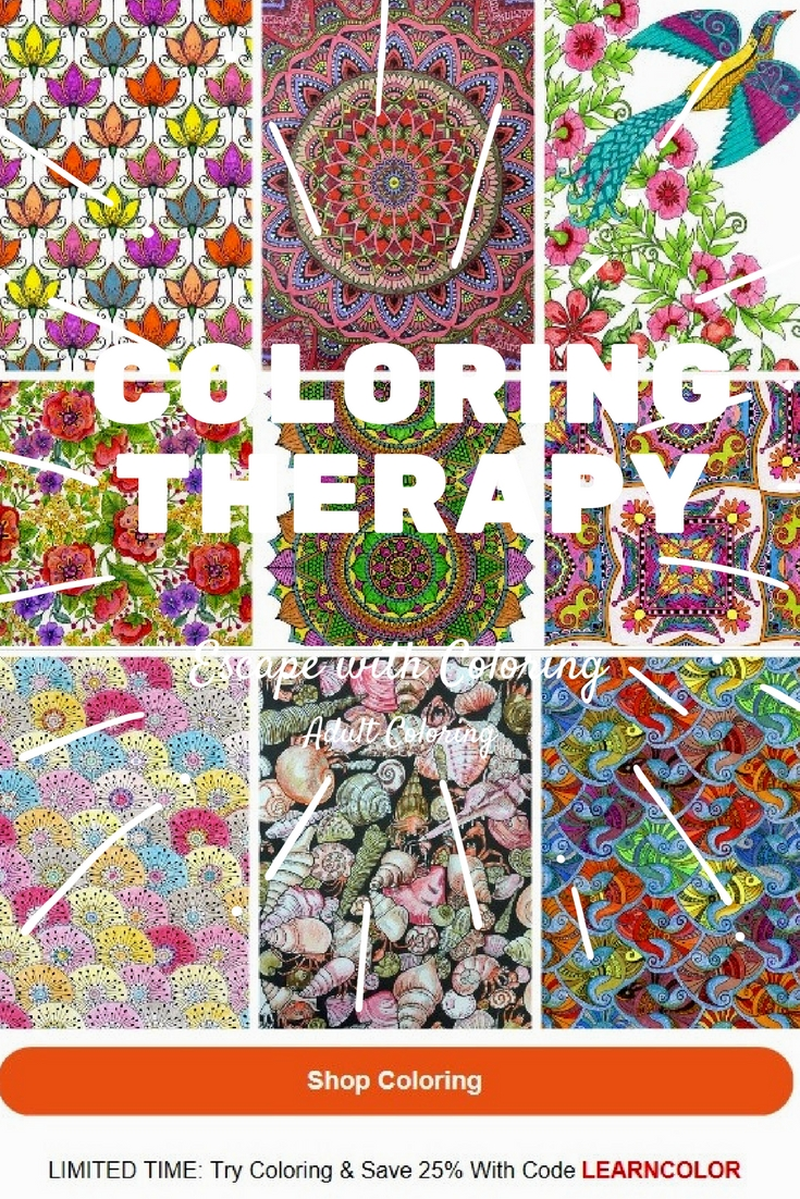 Learn Why Coloring is Therapeutic and good for adults