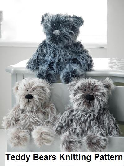 Teddy Bear Knitting Patterns 3 little bears to learn to knit