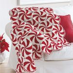 Crochet Peppermint Swirl Afghan Pattern Favorite Christmas Afghan Patterns