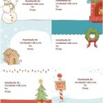 Download Free Handmade Crochet Christmas Labels Gift Tags
