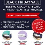 Early Black Friday Mattress Deals Take $100 off Mattresses + Get a FREE $100 Amazon Gift