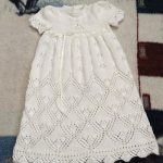 Heirloom Quality Christening Gown Knitting Pattern for Baby Sizes Newborn to 12 Months