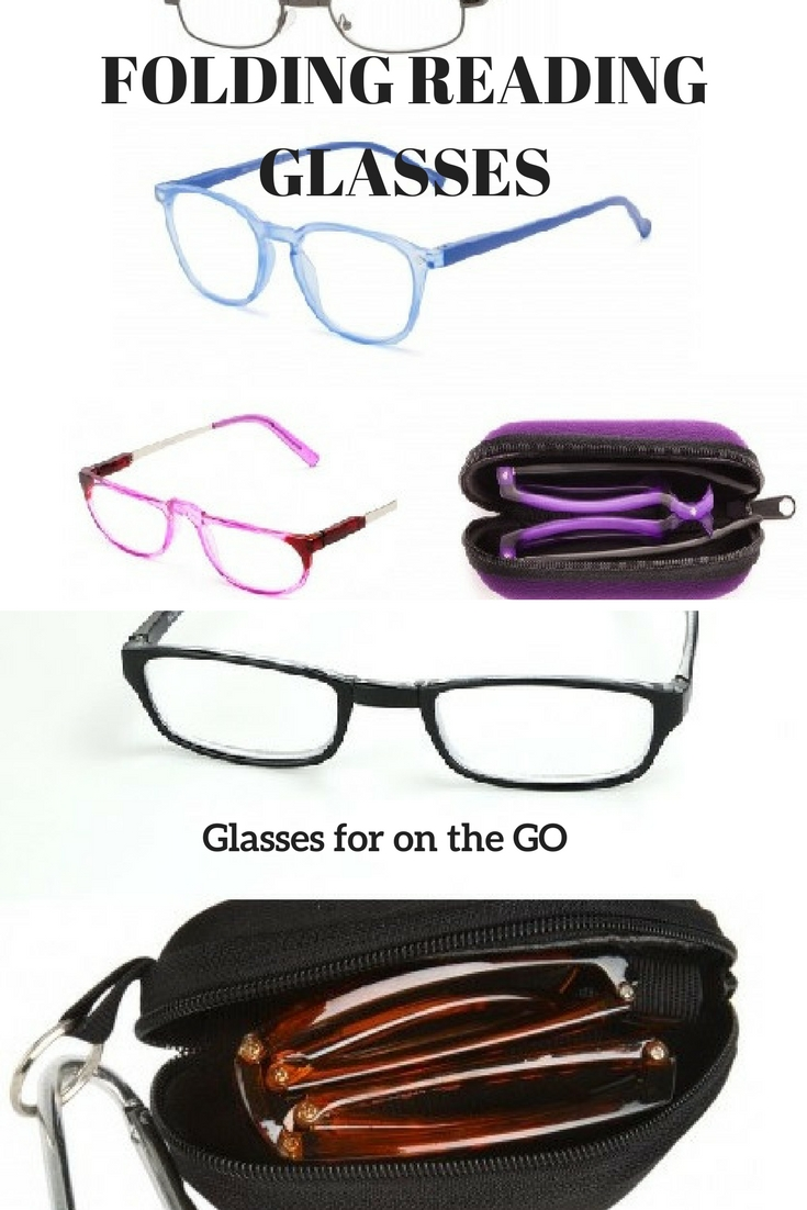 FOLDING READING GLASSES for on the go reading and travel