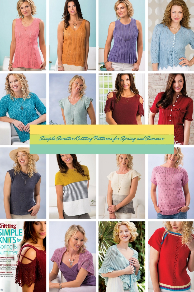 Simple Sweater Knitting Patterns for Spring and Summer