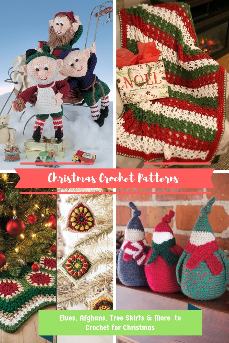 affiliate links crochet patterns for christmas elves afghans and tree skirts