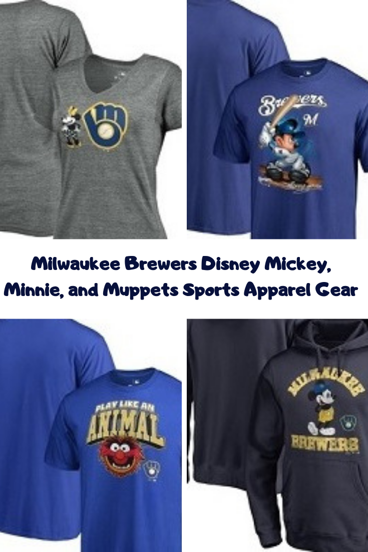 separation shoes 5e47c cd41d Milwaukee Brewers Disney Mickey, Minnie, and Muppets Sports ...